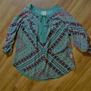 Anthropologie FIg and Flower Beautiful Blouse